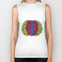 afro Biker Tanks featuring Circus Afro! Circus Afro!  by Brieana