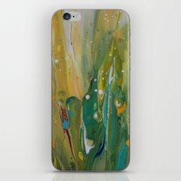 Fluid Nature - Windswept Cornfield - Abstract Acrylic Art iPhone Skin