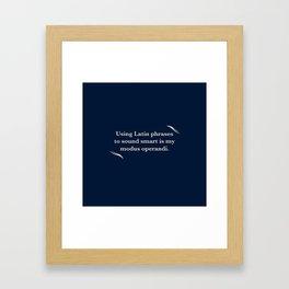 Modus Operandi Framed Art Print
