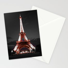 Paris Eiffel Tower Pink Night Stationery Cards