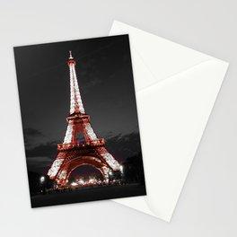 Paris Eiffel Tower Pink Night Stationery Cards