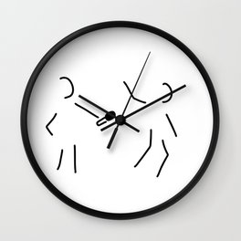 journalist microphone Wall Clock