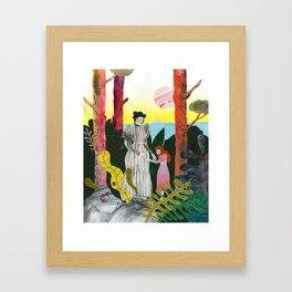 Anne Sullivan and Helen Keller Framed Art Print
