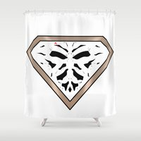 watchmen Shower Curtains featuring Rorschach - It Stands for Nope by Free Snakes