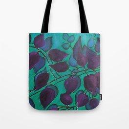 Purple leaves Tote Bag