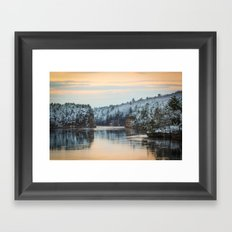 April Snowfall IV Framed Art Print