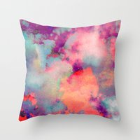 cloud Throw Pillows featuring Untitled 20110625p (Cloudscape) by tchmo