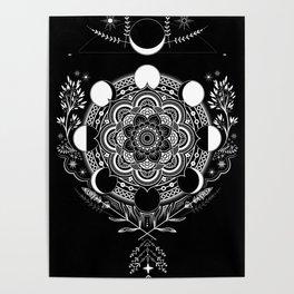 Moon Mandala Poster