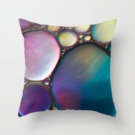 Oil In Water Throw Pillow