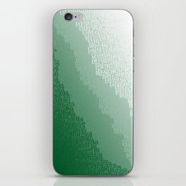 Green Cloudburst iPhone Skin