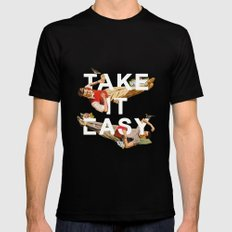 Take It Easy Mens Fitted Tee Black SMALL