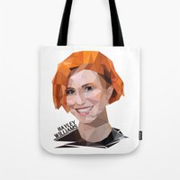 hayley williams Tote Bags featuring Low Poly Design Hayley Williams by kertasputih