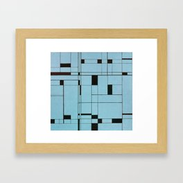 All About Mondrian (ice blue) Framed Art Print