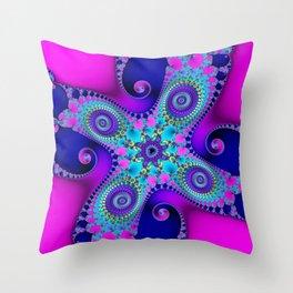 """""""Candy"""" Fractal Art Print Throw Pillow"""