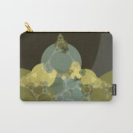 courtney - abstract design of pale aquamarine chartreuse green taupe brown Carry-All Pouch