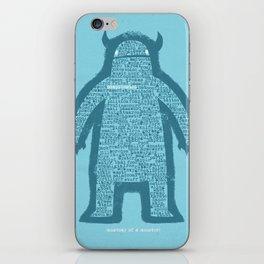 Anatomy of a Monster iPhone Skin