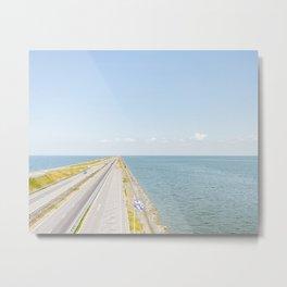 Afsluitdijk Art Print Friesland The Netherlands Landscape Travel Photography Metal Print