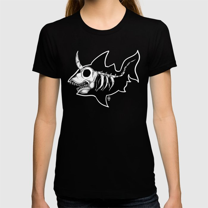 Dark Unicorn Shark Skeleton T-shirt