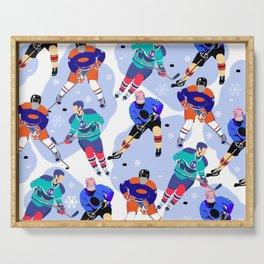 Ice Hockey print 001 Serving Tray