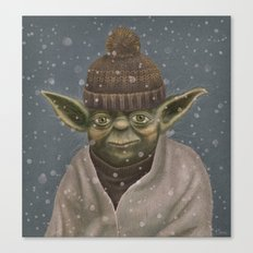 Christmas Yoda Canvas Print