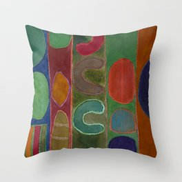Bizarre Forms in Stripes Throw Pillow