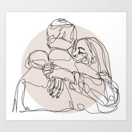 spread hugs Art Print