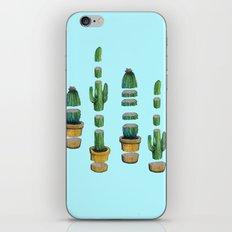 cut cactus on blue iPhone Skin