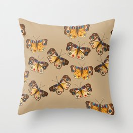 Buckeye Butterflies Throw Pillow