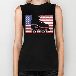 United States Flag & Roller Skating Biker Tank