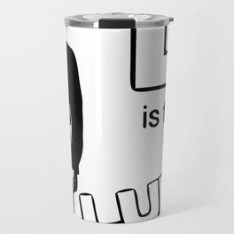 B&W L is for Luke Travel Mug
