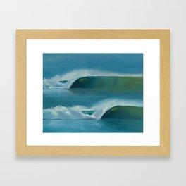 Double Barreling Waves ~ Surf Art Framed Art Print