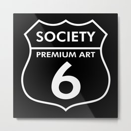 S6 Tee Collaboration : Road Society6 for a S6 Tee Metal Print