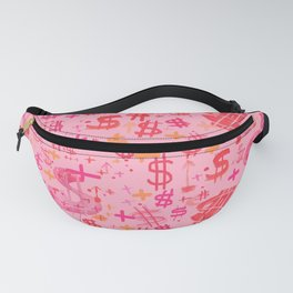 Pink Dollar Signs Fanny Pack
