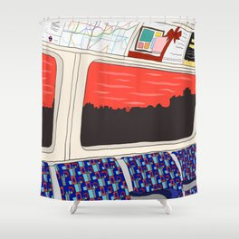 View from London Jubilee Line Shower Curtain