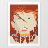 fifth element Art Prints featuring The fifth element by Inno Theme
