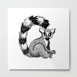 Cute Lemur Metal Print
