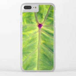 Taro leaf Clear iPhone Case