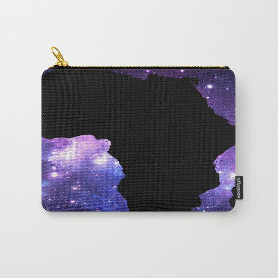 Galaxy AFrica Continent Purple Blue Carry-All Pouch