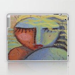Woman with Beachy Hair Abstract Acrylic Painting on OSB Board Laptop & iPad Skin