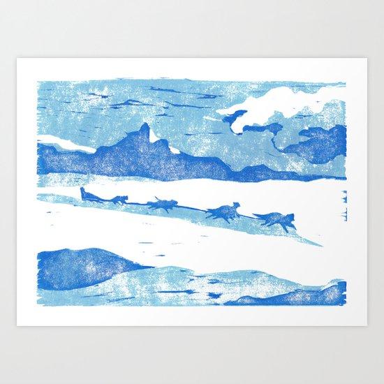 Iditarod Art Print