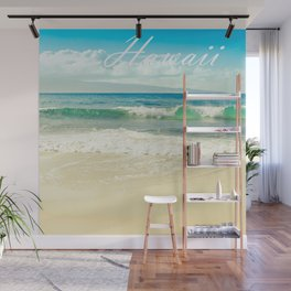 Hawaii Graphic Tropical Beach Decor Wall Mural