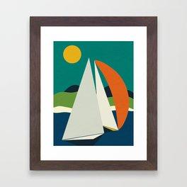 mid century sails Framed Art Print