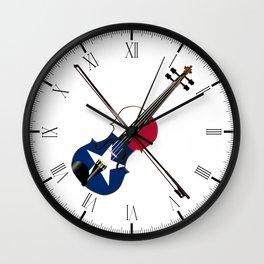 Texas Fiddle Wall Clock