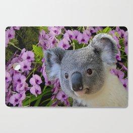 Koala and Orchids Cutting Board