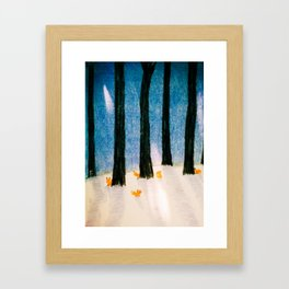 Foxs in the Forest Framed Art Print