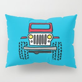 Jeep 'drawing' RED Pillow Sham