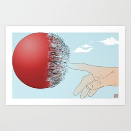 Burst Your Bubble Art Print