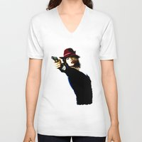 agent carter V-neck T-shirts featuring Agent Carter by Ms. Givens