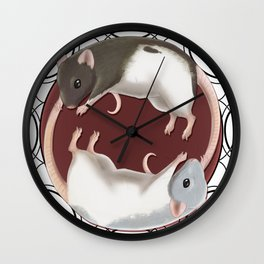 Chasin' Tail Wall Clock