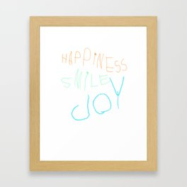 HappinessSmileJoy Framed Art Print